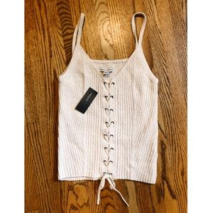American Eagle cable knit tank